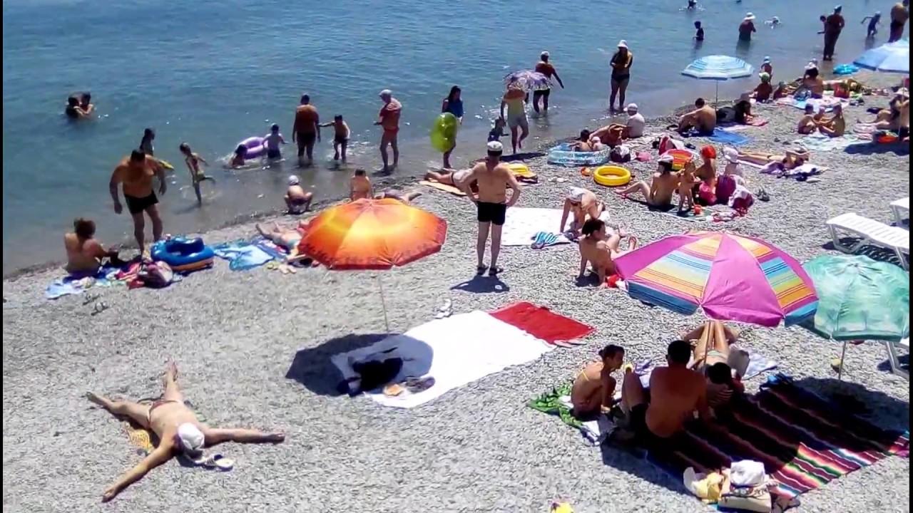 голяк на пляже