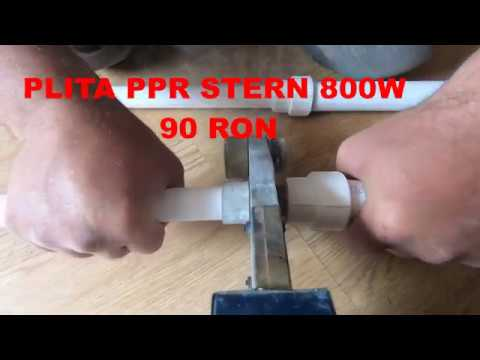 Lipire Tevi Ppr Cu Plita Stern  800W -20$  / Welding Ppr  Pipes With 20$ Soldering Machine