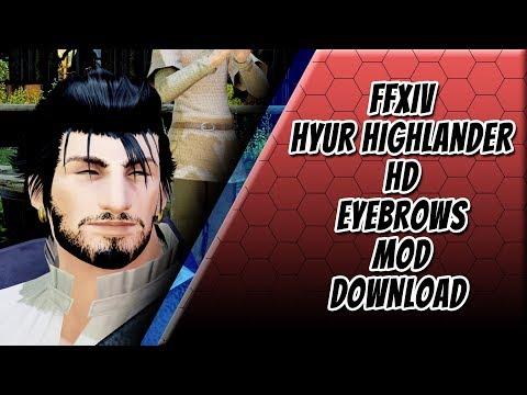 FFXIV - Male Hyur Highlander Eyebrows Mod HD - YouTube
