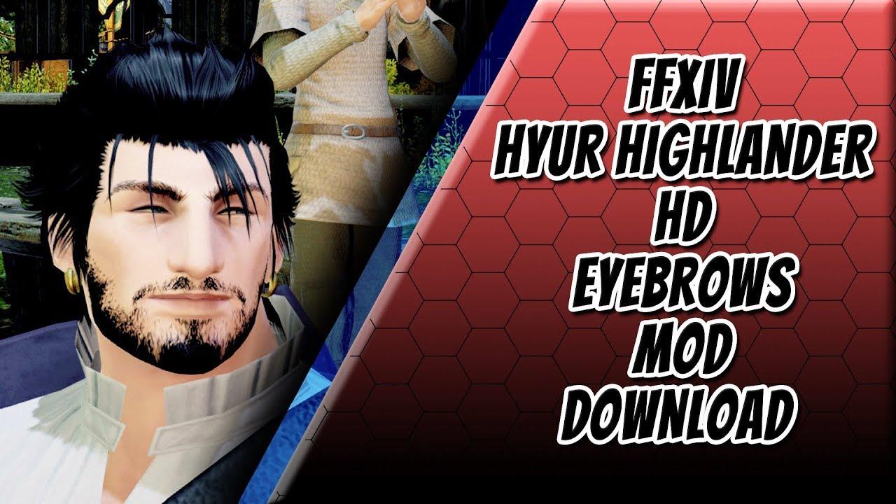 FFXIV - Male Hyur Highlander Eyebrows Mod HD