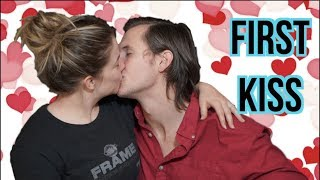 our first kiss.    shawn johnson + andrew east story time