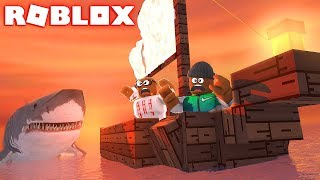 ATTACKED BY THE MEGALODON IN ROBLOX (Roblox Shark Bite)