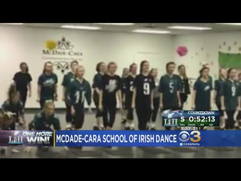 McDadeCara School Irish Dance In Celebration Of Philadelphia Eagles