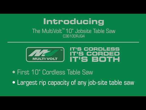 "MultiVolt 10"" Cordless Job Site Table Saw (C3610DRJ)"