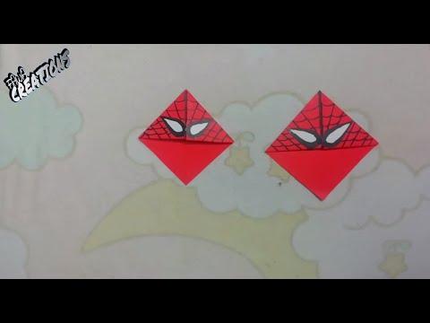 SPIDER MAN CORNER BOOKMARK DIY#27