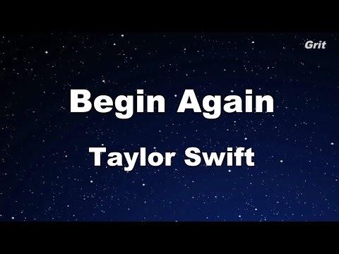 Begin Again - Taylor Swift Karaoke【No Guide Melody】