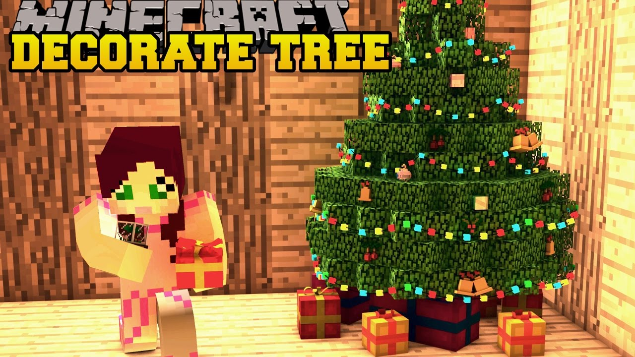 Minecraft Christmas.Minecraft Christmas Tree Decoration Challenge Toy Trains Ornaments More Mod Showcase