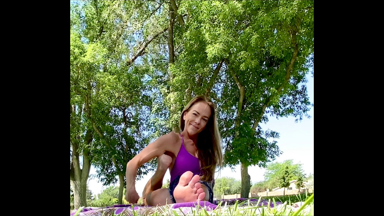 Yoga At The Park, Flexible Girl with Legs Behind Head