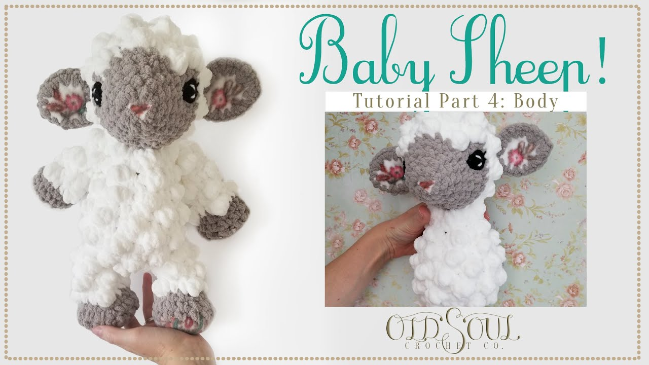 Baby Sheep Crochet-Along! | Part 4: Making and Attaching the Body!