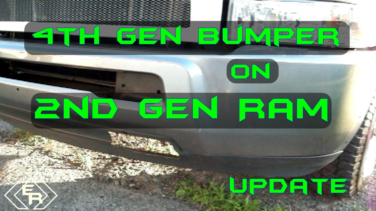 How to install 4th Gen Bumper on 2nd Gen Dodge Ram with stock brackets  *Update*