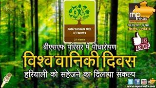 MP News: विश्व वानिकी दिवस पर इंदौर में पौधारोपण