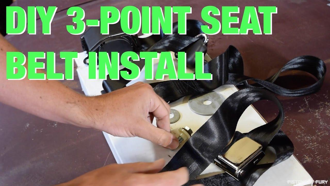 Pof Ep 10 Diy 3 Point Seat Belt Install Youtube