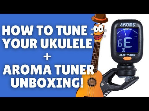 How to Tune Your Ukulele! AROMA AT-101 Tuner Unboxing