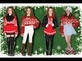 Christmas Sweater Outfit Ideas || Lucykiins