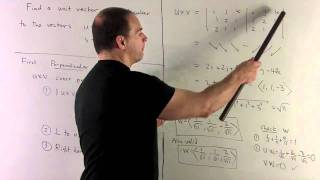 Multivariable Calculus: Find a unit vector perpendicular to the vec...