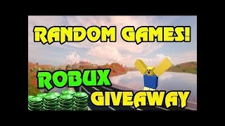 🔴 FREE ROBUX GIVEAWAY!! | Random Roblox GAMES!! | MEMBERS PICK GAMES! | COME PLAY! | Live Now