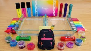 Back to School Rainbow Mixing Makeup Eyeshadow Into Slime! Special Series 170 Satisfying Slime Video