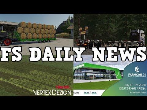 FARMCON 20, GOLDCREST VALLEY, PLUS MODS IN TESTING | FS DAILY NEWS | Farming Simulator 19