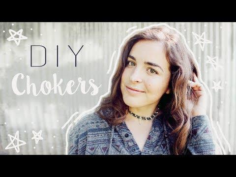 DIY: Choker Necklaces // Basic & EASY Ideas // Veronica Marie