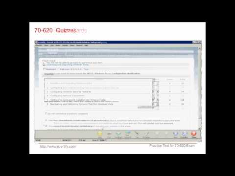 uCertify 70-620 Exam Practice Questions.