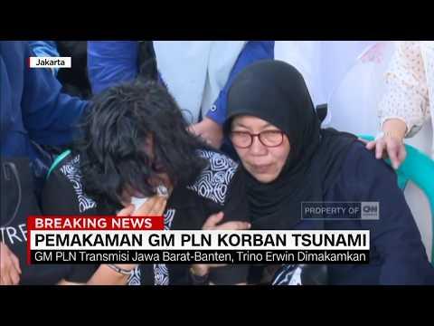 Pemakaman GM PLN Korban Tsunami Selat Sunda