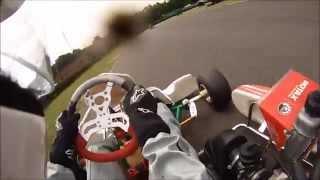 Stuart Hubbard Rotax Max Crash