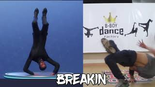 New Breakin Emote in real Life Fortnite Battle Royale (Break Dance Emote)