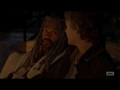 The Walking Dead - King Ezekiel tells Carol how he got Shiva the tiger.