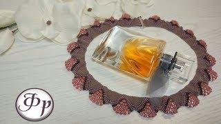 Ожерелье из бисера разных размеров. Бисероплетение для начинающих.