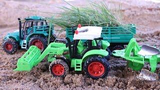 Tractors for Children รถแทรกเตอร์ไถ่นาปลูกข้าว รถไถ่นา รถบรรทุก  รถแม็คโคร รถตักดิน รถดั้ม