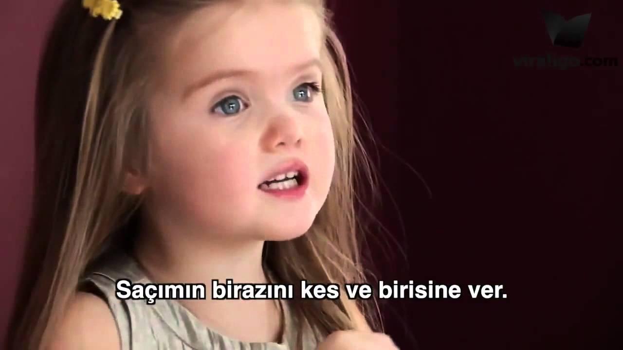 3 yaşındaki kızın cesareti