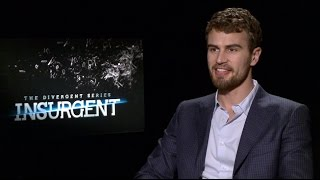 Theo James Talks