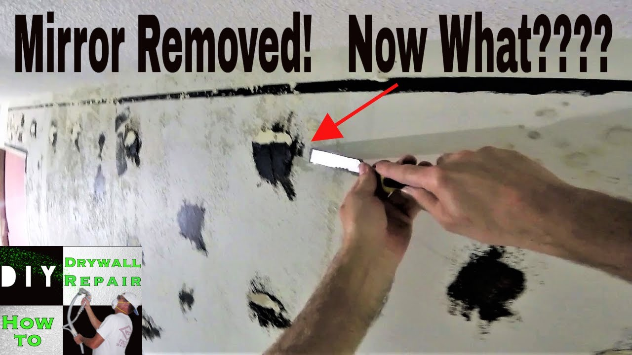 How to repair drywall after removing wall mirror- Fix torn ...