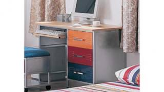Multicolor Metal Computer Desk (home)