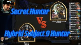 Hybrid Subject 9 Hunter vs Secret Hunter - Hearthstone