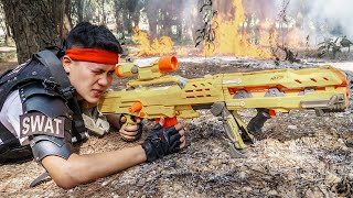LTT Game Nerf War : Two Squad Warriors SEAL X Nerf Guns Fight Treasure Thief Braum Crazy