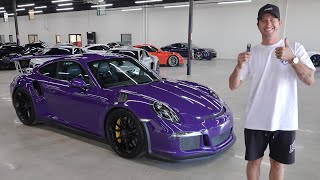 homepage tile video photo for Taking Delivery of my Ultra Violet Porsche GT3RS (Rare Spec)