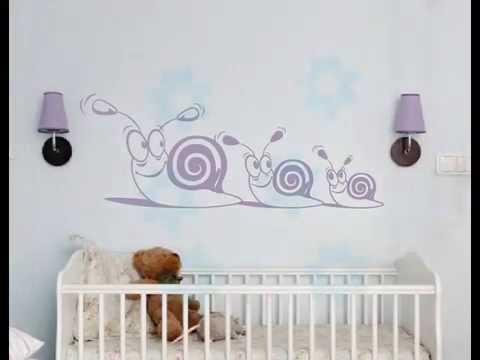 Decorar la habitaci n de nuestro beb con vinilos - Dibujos infantiles para decorar paredes ...