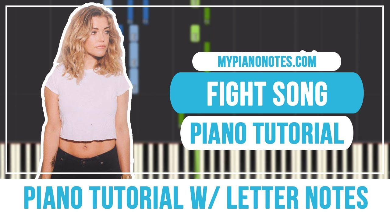 Fight Song Piano Notes & Chords - With Letters & Easy Tutorial