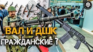Оружие Спецназа ФСБ и гроза Люфтваффе – ГРАЖДАНСКОЕ?  Карабины из АС Вал и зенитного пулемета ДШК