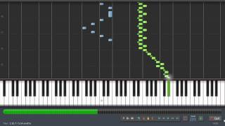 Rimsky Korsakov - Flight Of The Bumblebee (20% Speed) Piano Tutorial Synthesia + Sheet Music & MIDI
