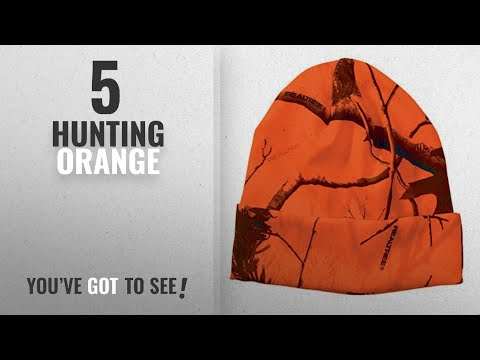 Top 10 Hunting Orange [2018]: WearDgo Licensed Camo Hunting Beanies (Realtree AP Blaze 12