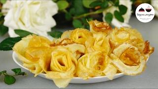 РОЗЫ ИЗ БЛИНОВ  Как красиво подать блины  Roses of Pancakes