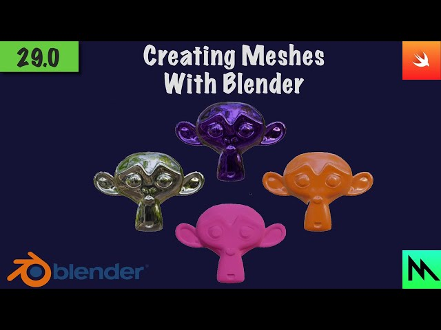 29: Creating Meshes With Blender | Swift Game Engine