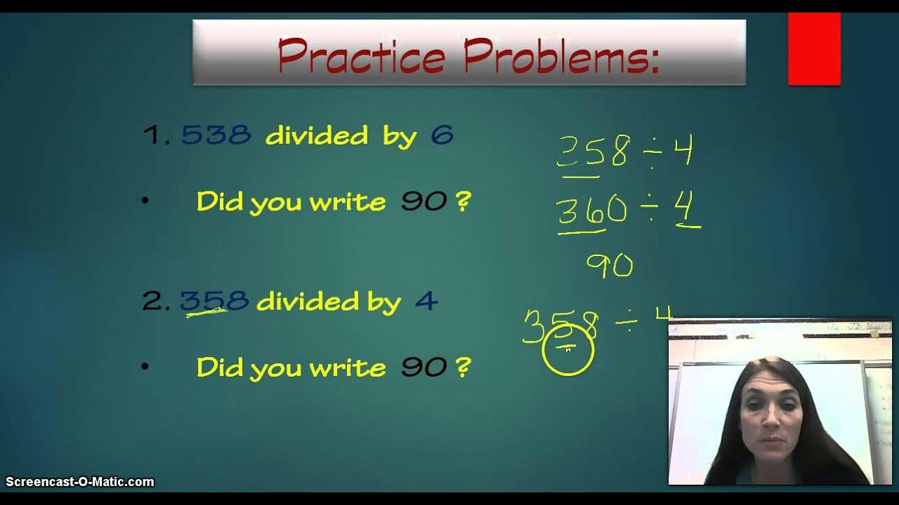 Envision Math lesson 4-2 Estimating Quotients - YouTube
