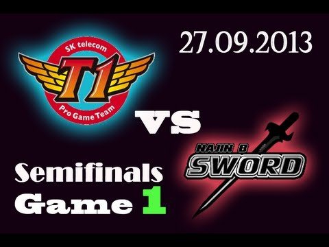 SKTT1 vs NJS | SK Telecom T1 vs NaJin Black Sword Game 1 | SemiFinals D1 G1  | Worlds 2013 S3 VOD