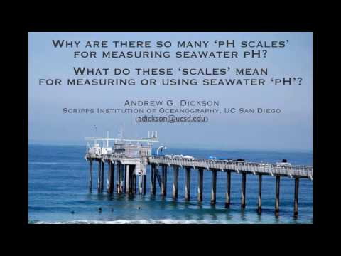 Why are there so many 'pH scales' for measuring seawater 'pH'? What do they mean?