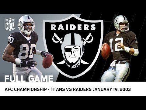 Titans vs. Raiders 2002 AFC Championship Game | NFL Full Game