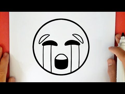 HOW TO DRAW THE CRYING EMOJI