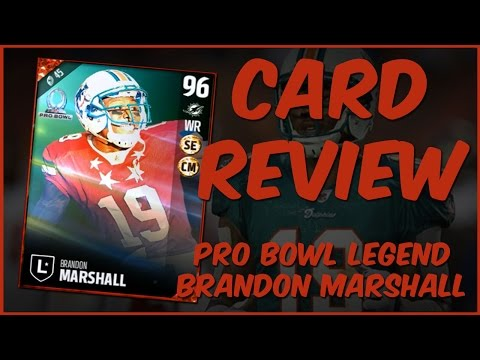 MUT 17 Card Review | Pro Bowl Legend Brandon Marshall Gameplay + Card Review